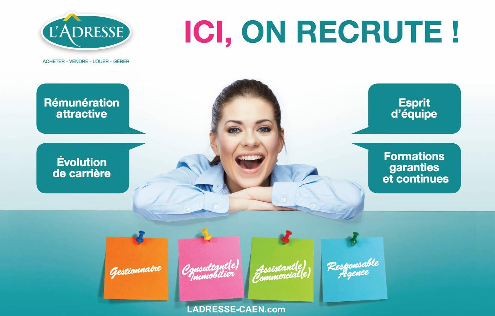 L'ADRESSE Agence Caennaise recrute !